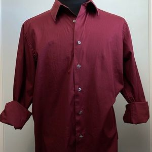 Structure Mens Slim Fit Long Sleeve Button Down XL